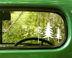 2 TREE DECALs Sticker Nature Forest For Car Truck Window Bum