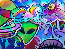 20 shiny holographic reflective graffiti foil cool