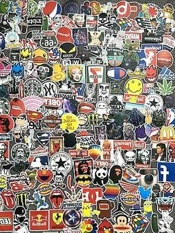 200 Skateboard Stickers Vinyl Laptop Luggage Decal Dope Stic