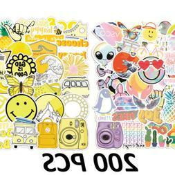 200Pcs Colorful Skateboard Sticker Decor Decals Vinyl Laptop
