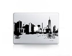 2015 New York Skyline Current Sticker Decal For MacBook Pro,