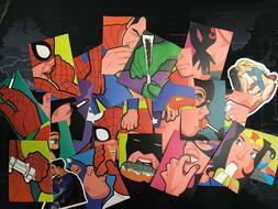 25 Pcs/Lot Stickers MARVEL Avengers Super Hero DC For Car La