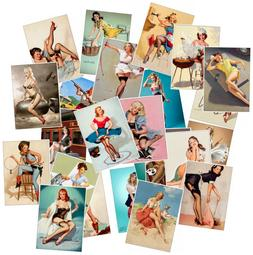 25 Pin Up Girls Stickers Pack Lot Sexy Women Vintage Laptop