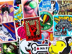 25 Random Cool Laptop Motorcycle Sticker Lot Dope Car Bumper