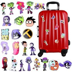 26PCS/Set Anime Teen Titans Go Car Sticker Label Tag Handbox