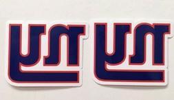2x New York Giants Car Bumper Window Laptop Vinyl Die Cut St