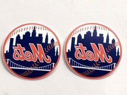 2x New York Mets Car Window Laptop Bumper Wall Macbook Vinyl