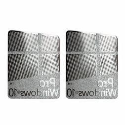 2x Windows 10 Pro Sticker, Badge Metal Sticker for PC/Laptop