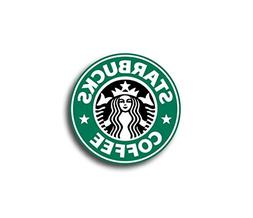 "3"" Starbucks LOGO Decal Sticker for case car laptop phone bu"