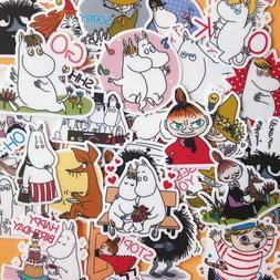 30 Pcs Cartoon Moomin Character <font><b>Stickers</b></font>