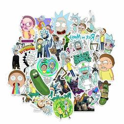 35 Pcs Rick and Morty Doodle Stickers Cartoon Trolley Case L