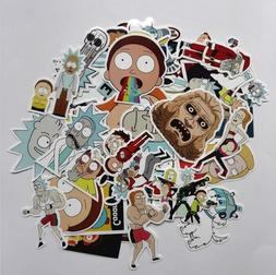 35pcs Rick And Morty Stickers Mix Laptop Skateboard Stickers