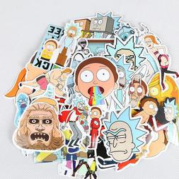 35x Rick And Morty Sticker Lot Laptop Truck Car Gamer Funny