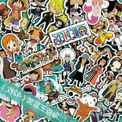 ab2a416e633 42 pcs One Piece Anime Sticker Decals for Skateboard Luggage