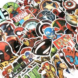 50 Pcs/Lot Stickers MARVEL Avengers Super Hero DC For Car La