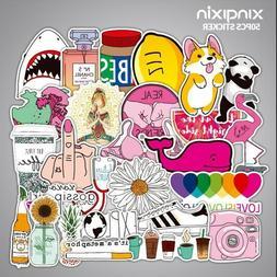 50 Cute Pink Stickers bomb Vinyl Skateboard Luggage Laptop s