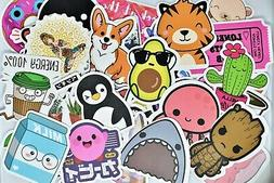 50 Cute Teen Girl Vinyl Stickers Pack for Hydro Flask Laptop
