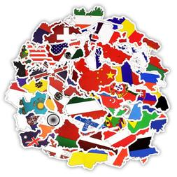 50 Flag Sticker Lot Country World Map Decal Travel Skateboar