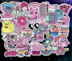 50 Hydro Flask Sticker Pack, Cute Water Bottle Pink Laptop S