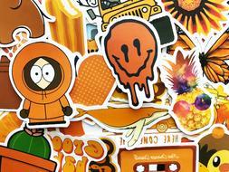 50 Orange Sticker Bomb Scrapbooking Laptop Phone Skin Lot Se