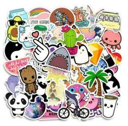 50-Pack Waterproof Vsco Stickers Girls Laptop Bottle Sticker