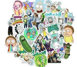 50 pcs American drama rick and morty sticker set laptop stic