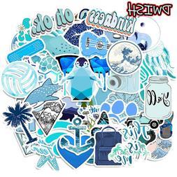 50 PCS Cute Blue Stickers for Hydro-Flask VSCO Girl Waterpro