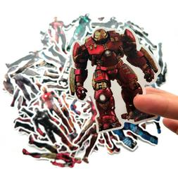 50 pcs Iron Man Marvel Super Heroes Vinyl Stickers for Skate