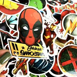 50 Pcs/Lot Stickers For MARVEL Super Hero DC For Car Laptop