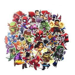 50 Pcs/Lot Stickers MARVEL Avengers Super Hero DC Vinyl Lapt