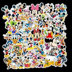 50  pcs Mickey Mouse and Friends Stickers bomb Vinyl Skatebo
