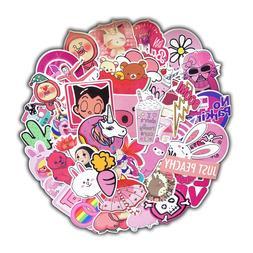 50 pcs/pack PVC Waterproof <font><b>Pink</b></font> Girls Fu