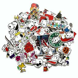 50 PCS Snoopy Peanuts Stickers Set for Hydro Flasks, Laptops