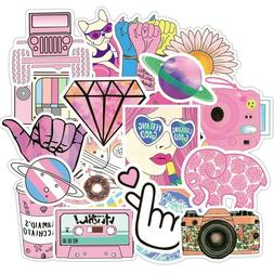50 Pink girl cute teens Stickers for Water Bottles Laptop Hy