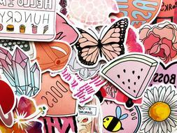 50 pink sticker bomb scrapbooking laptop phone