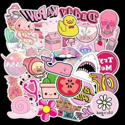50 Pink VSCO Sticker Bomb Cute Anime Girls Water Bottles Lap