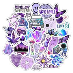 50 Purple Sticker Bomb Cute Kawaii Laptop Water Bottles Wate