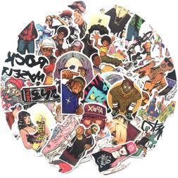 50 stickers hip hop rock punk music