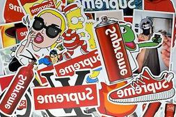 50 Supreme Stickers Hypebeast Stickers for Hydro Flask Lapto