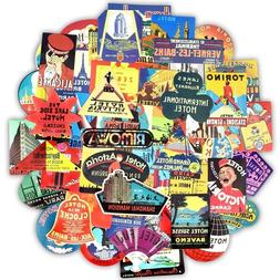 Hotel Vintage Sticker Bomb Pack Lot Retro 80's Travel Laptop