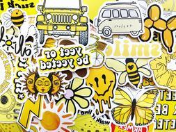 50 Yellow Sticker Bomb Scrapbooking Laptop Phone Skin Lot Se