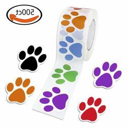 500× Dog Cat Animal Paw Print Stickers,Window Laptop Car De