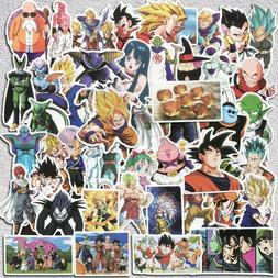 50Pcs Vinyl Anime Dragon Ball Stickers Goku Sticker For Lapt