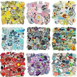 50Pcs Blue/Pink/Yellow Cartoon Luggage Laptop Suitcase Stick