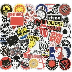 50Pcs Cool Rock Bands Artists Stickers Bomb For Skateboard L