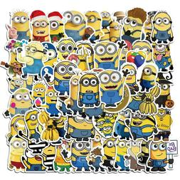 50pcs Funny Cartoon Movie Minions Stickers For Kids DIY Lapt