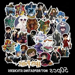 50pcs Harry Potter Cartoon Stickers Luggage Skateboard, Lapt