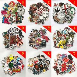 50Pcs Mix Cool Graffiti Sticker Skateboard Travel Case Guita