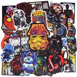50pcs New Super Cool Star Wars Stickers for Luggage Laptop D