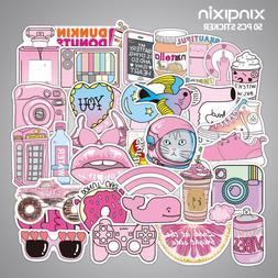 50pcs/pack Mini PVC Waterproof <font><b>Pink</b></font> Girl